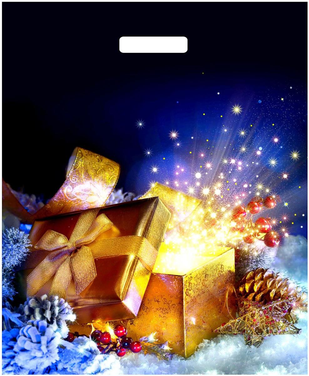 Пакет подарочный ТИКО-Пластик Новогодняя коробочка, 47,5 х 39 см, 60 мкм1308782_красный, зеленыйПодарочный пакет, изготовленный из ламината, станет незаменимым дополнением квыбранному подарку.Подарок, преподнесенный в оригинальной упаковке, всегда будет самым эффектным и запоминающимся. Окружите близких людей вниманием и заботой, вручив презент в нарядном, праздничном оформлении.