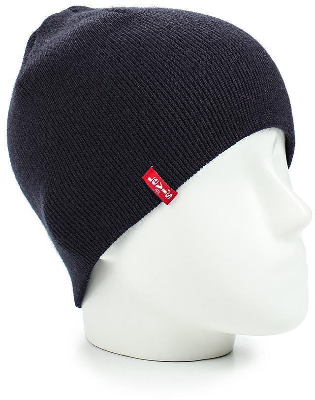 Шапка Levis®, цвет: синий. 7713801710. Размер L (58)7713801710Комфортная шапка Levis из плотно прилегающего мягкого трикотажа.