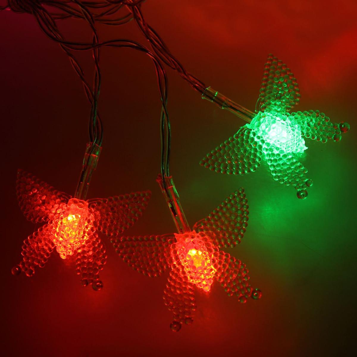 Гирлянда светодиодная Luazon Метраж. Бабочка в крапинку, 20 ламп, 3,6 V, длина 3 м1080369Светодиодные гирлянды и ленты — это отличный вариант для новогоднего оформления интерьера или фасада. С их помощью помещение любого размера можно превратить в праздничный зал, а внешние элементы зданий, украшенные ими, мгновенно станут напоминать очертания сказочного дворца. Такие украшения создают ауру предвкушения чуда. Деревья, фасады, витрины, окна и арки будто специально созданы, чтобы вы украсили их светящимися нитями.