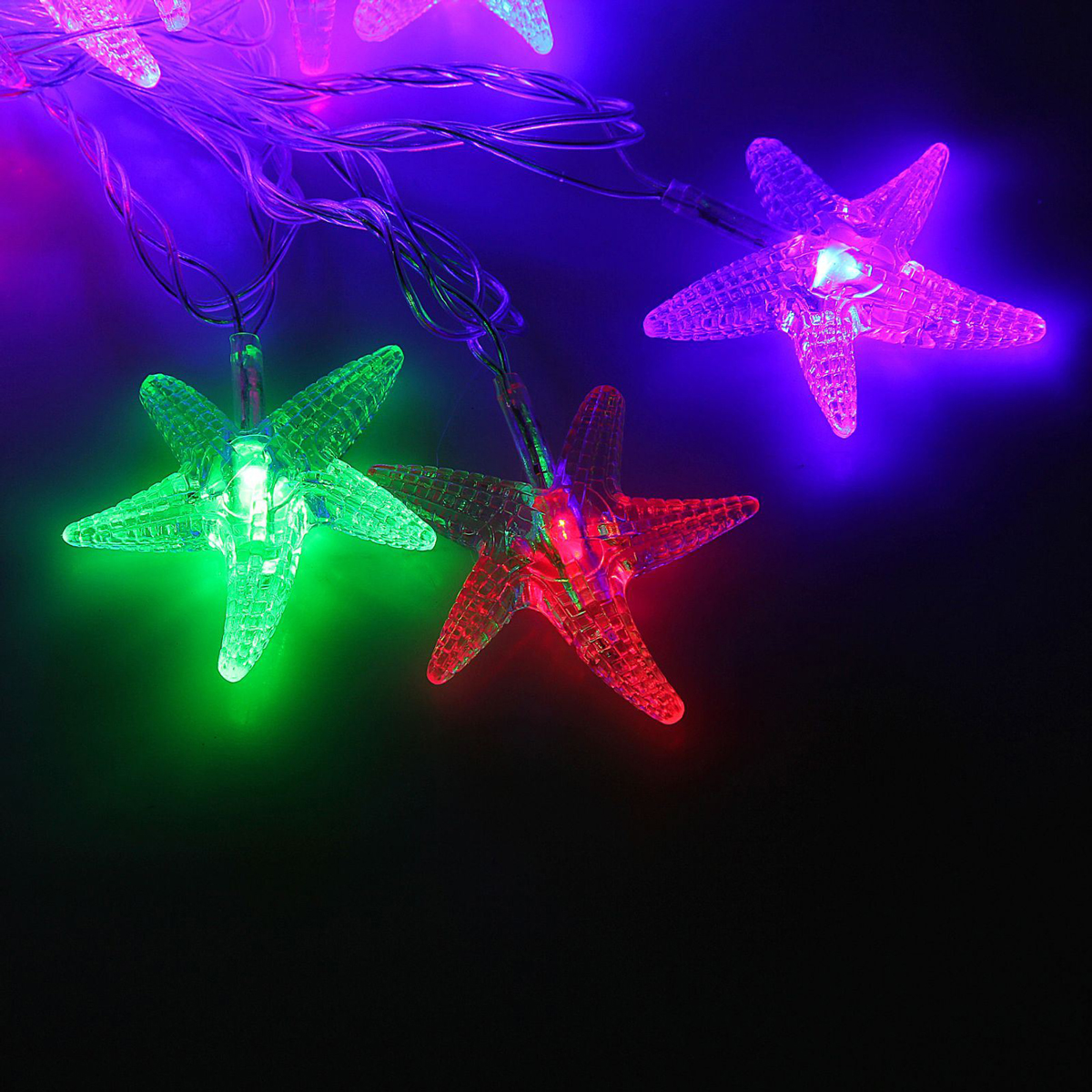 Гирлянда светодиодная Luazon Метраж. Морская звезда, 20 ламп, 220 V, длина 5 м1080388Светодиодные гирлянды и ленты — это отличный вариант для новогоднего оформления интерьера или фасада. С их помощью помещение любого размера можно превратить в праздничный зал, а внешние элементы зданий, украшенные ими, мгновенно станут напоминать очертания сказочного дворца. Такие украшения создают ауру предвкушения чуда. Деревья, фасады, витрины, окна и арки будто специально созданы, чтобы вы украсили их светящимися нитями.