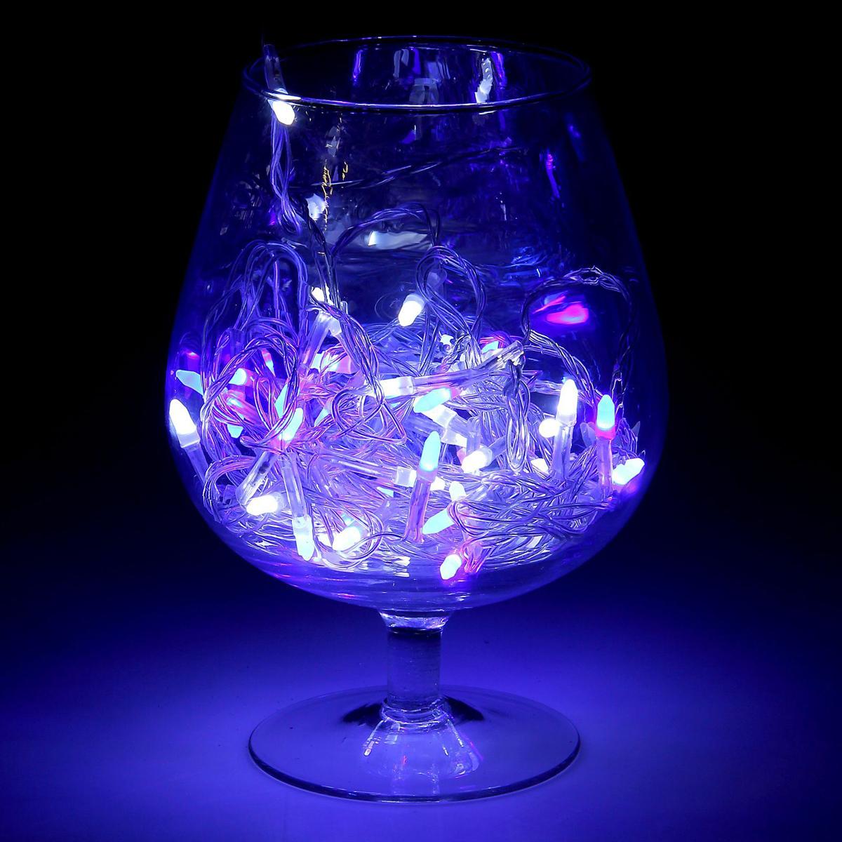 Гирлянда светодиодная Luazon Метраж. Игла, моргает, 50 ламп, 220 V, 5 м, цвет: синий. 10805191080519Светодиодные гирлянды, ленты и т.д. — это отличный вариант для новогоднего оформления интерьера или фасада. С их помощью помещение любого размера можно превратить в праздничный зал, а внешние элементы зданий, украшенные ими, мгновенно станут напоминать очертания сказочного дворца. Такие украшения создают ауру предвкушения чуда. Деревья, фасады, витрины, окна и арки будто специально созданы, чтобы вы украсили их светящимися нитями.