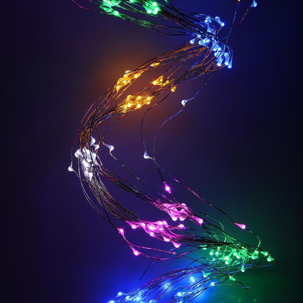 Гирлянда светодиодная Luazon Конский хвост, цвет: мультиколор, 360 ламп, 8 режимов, 12 V, 24 нити, длина 1,5 м. 1080615 гирлянда luazon дождь 2m 6m multicolor 671678