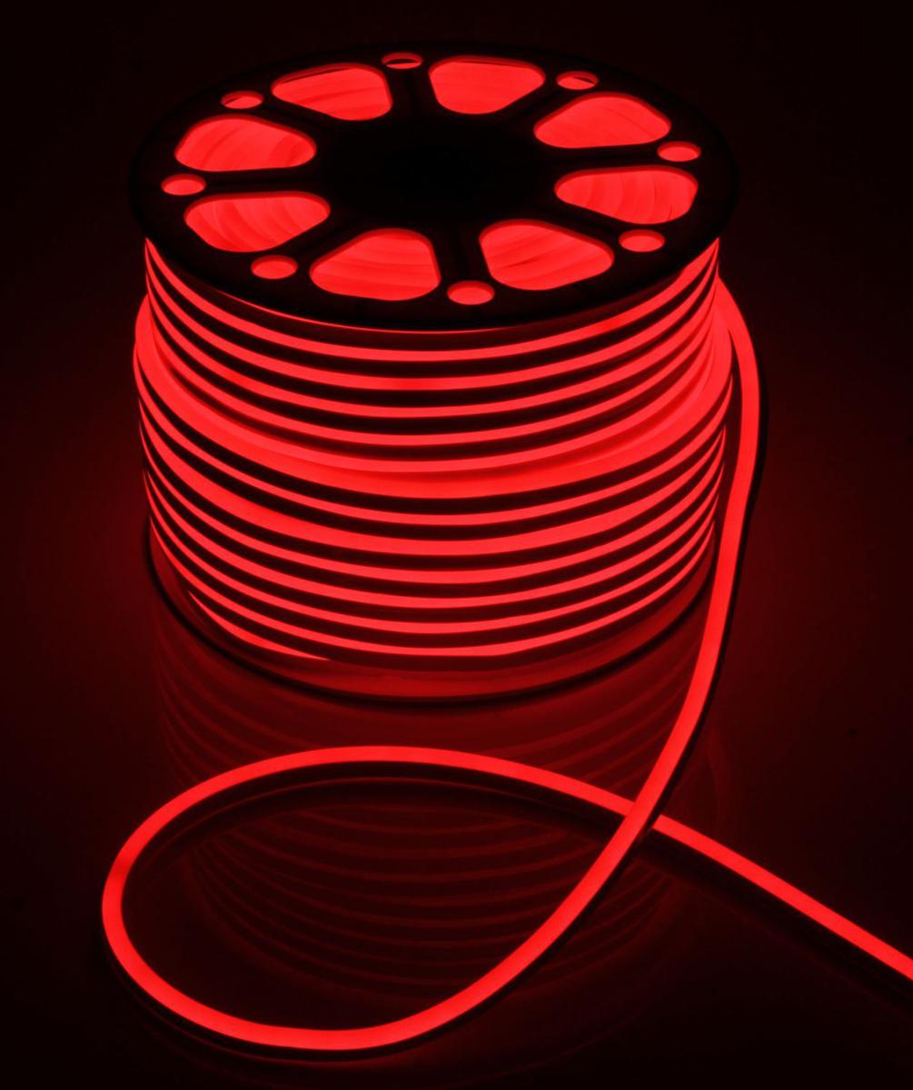 Гирлянда светодиодная  Luazon , 120 ламп, 220 V, цвет: красный, 0,8 см х 1,6 см х 100 м. 1431270 -  Гирлянды и светильники