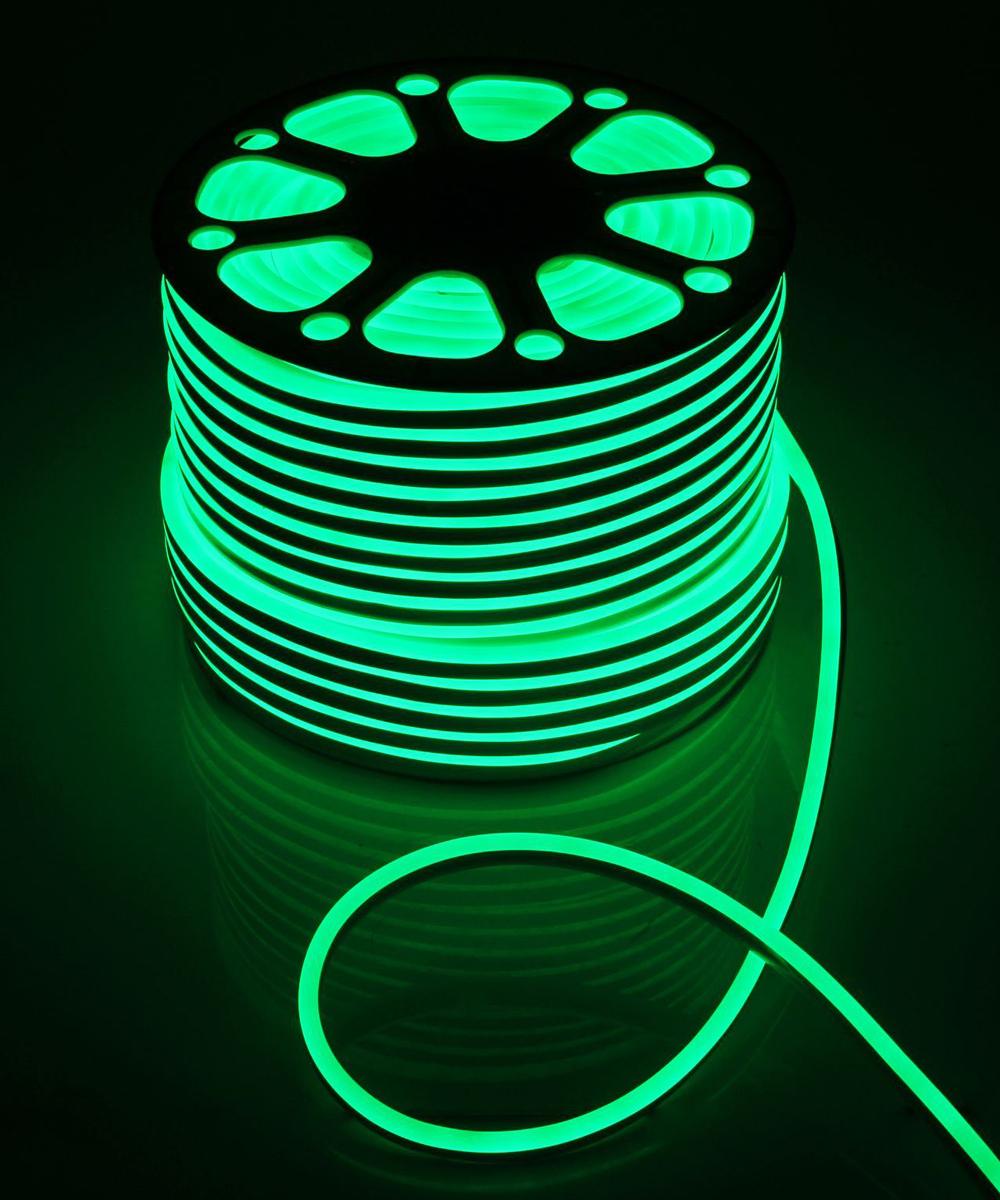 Гирлянда светодиодная  Luazon , 120 ламп, 220 V, цвет: зеленый, 0,8 см х 1,6 см х 100 м. 1431271 -  Гирлянды и светильники