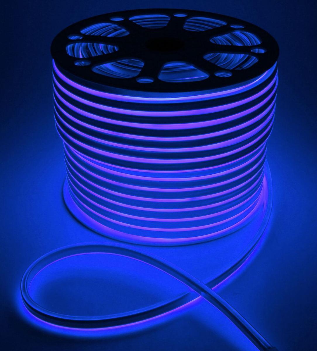 Гирлянда светодиодная  Luazon , 120 ламп, 220 V, цвет: синий, 0,8 см х 1,6 см х 100 м. 1431272 -  Гирлянды и светильники