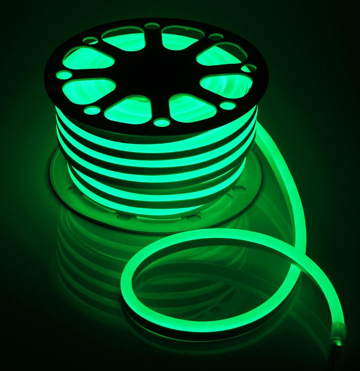 Гирлянда светодиодная  Luazon , 120 ламп, 220 V, цвет: зеленый, 1,5 см х 2,5 см х 25 м. 1431312 -  Гирлянды и светильники