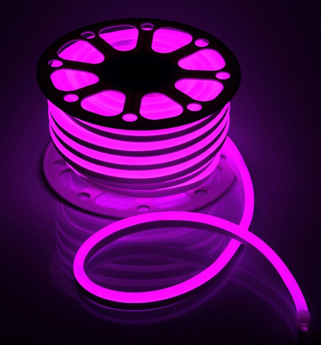 Гирлянда светодиодная  Luazon , 120 ламп, 220 V, цвет: розовый, 1,5 см х 2,5 см х 25 м. 1431314 -  Гирлянды и светильники