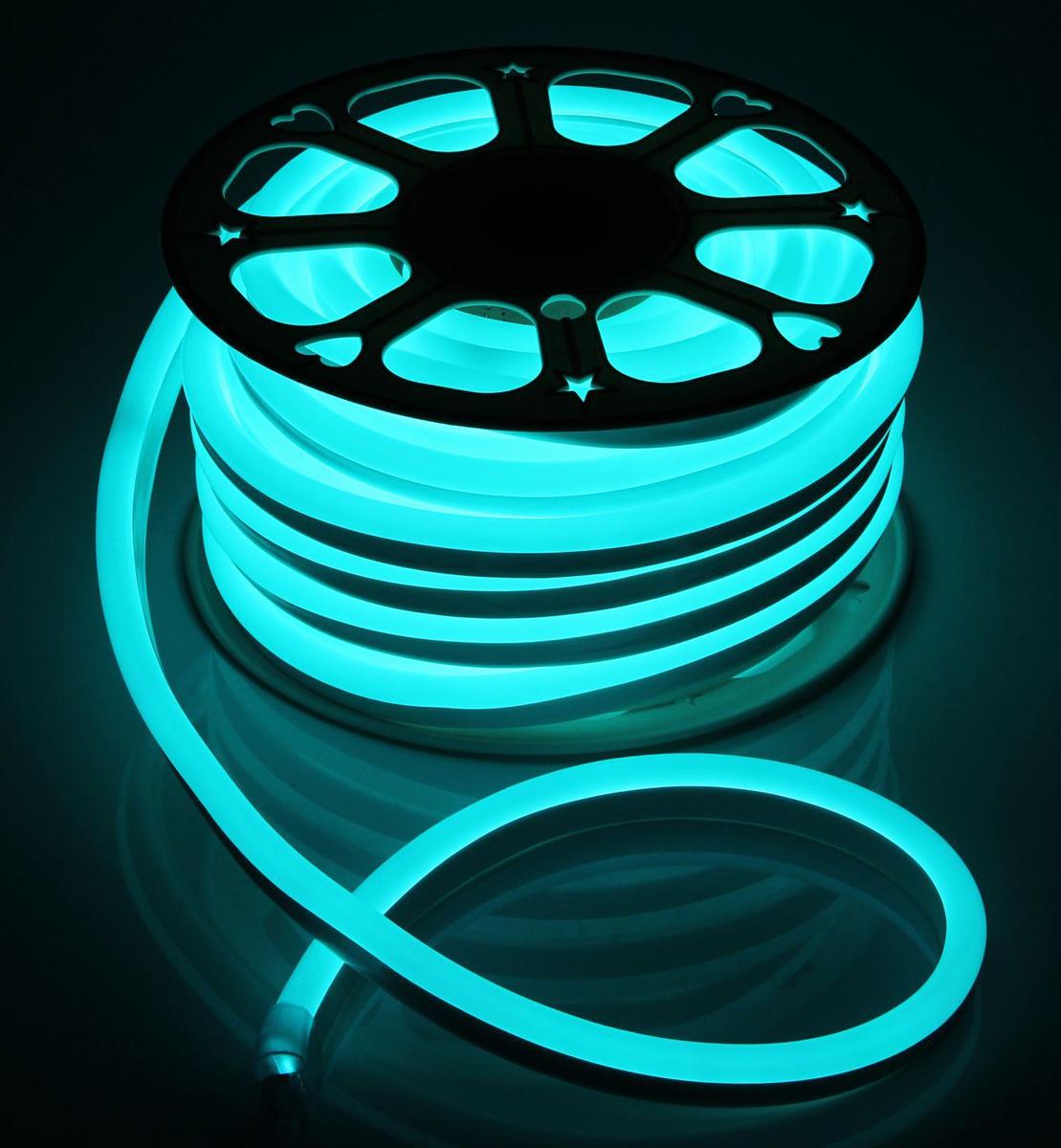 Гирлянда светодиодная  Luazon , 120 ламп, 220 V, цвет: бирюзовый, 1,5 см х 2,5 см х 25 м. 1431317 -  Гирлянды и светильники