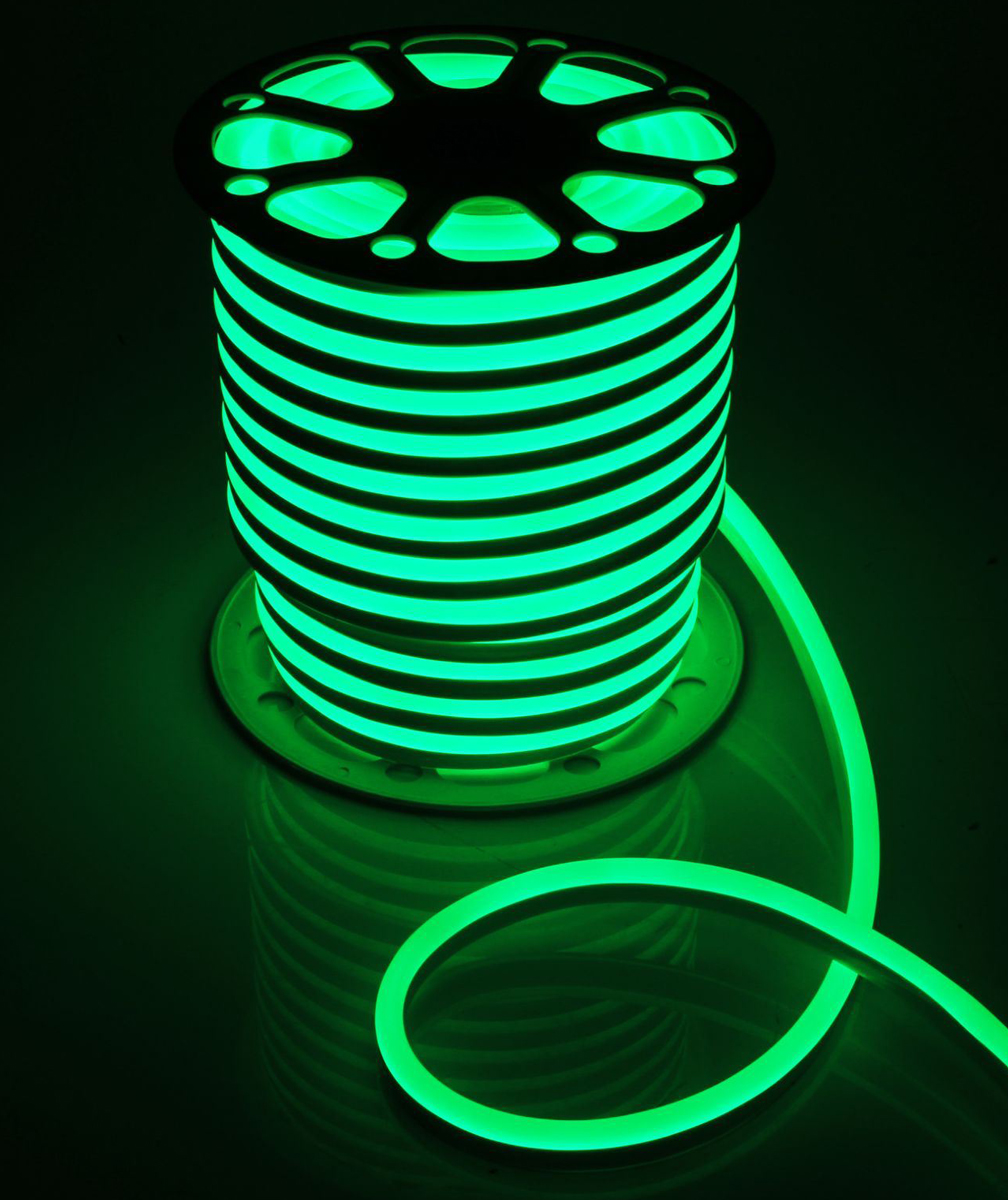 Гирлянда светодиодная  Luazon , 120 ламп, 220 V, цвет: зеленый, 1,5 см х 2,5 см х 50 м. 1431321 -  Гирлянды и светильники