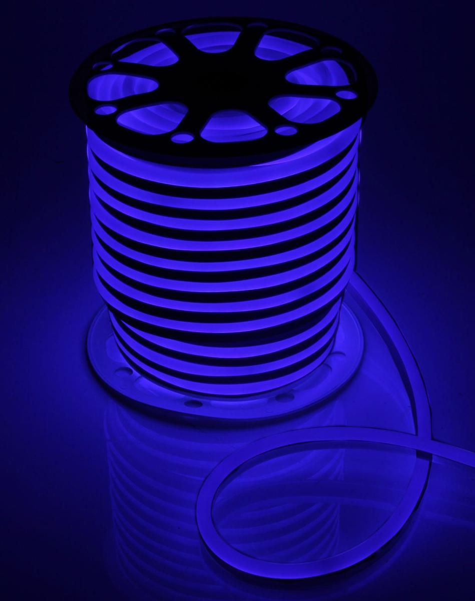 Гирлянда светодиодная  Luazon , 120 ламп, 220 V, цвет: синий, 1,5 см х 2,5 см х 50 м. 1431322 -  Гирлянды и светильники