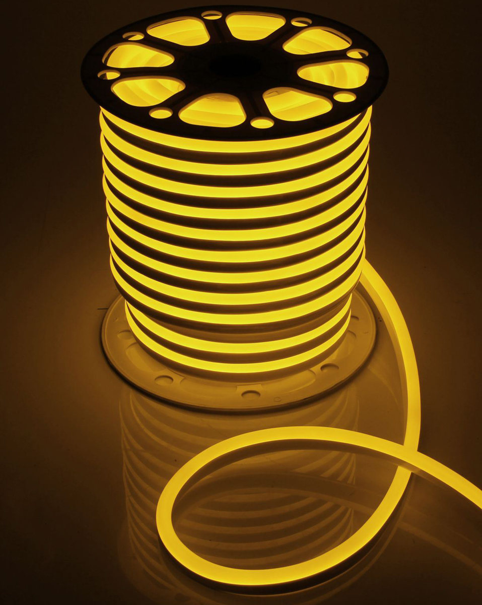 Гирлянда светодиодная  Luazon , 120 ламп, 220 V, цвет: желтый, 1,5 см х 2,5 см х 50 м. 1431324 -  Гирлянды и светильники