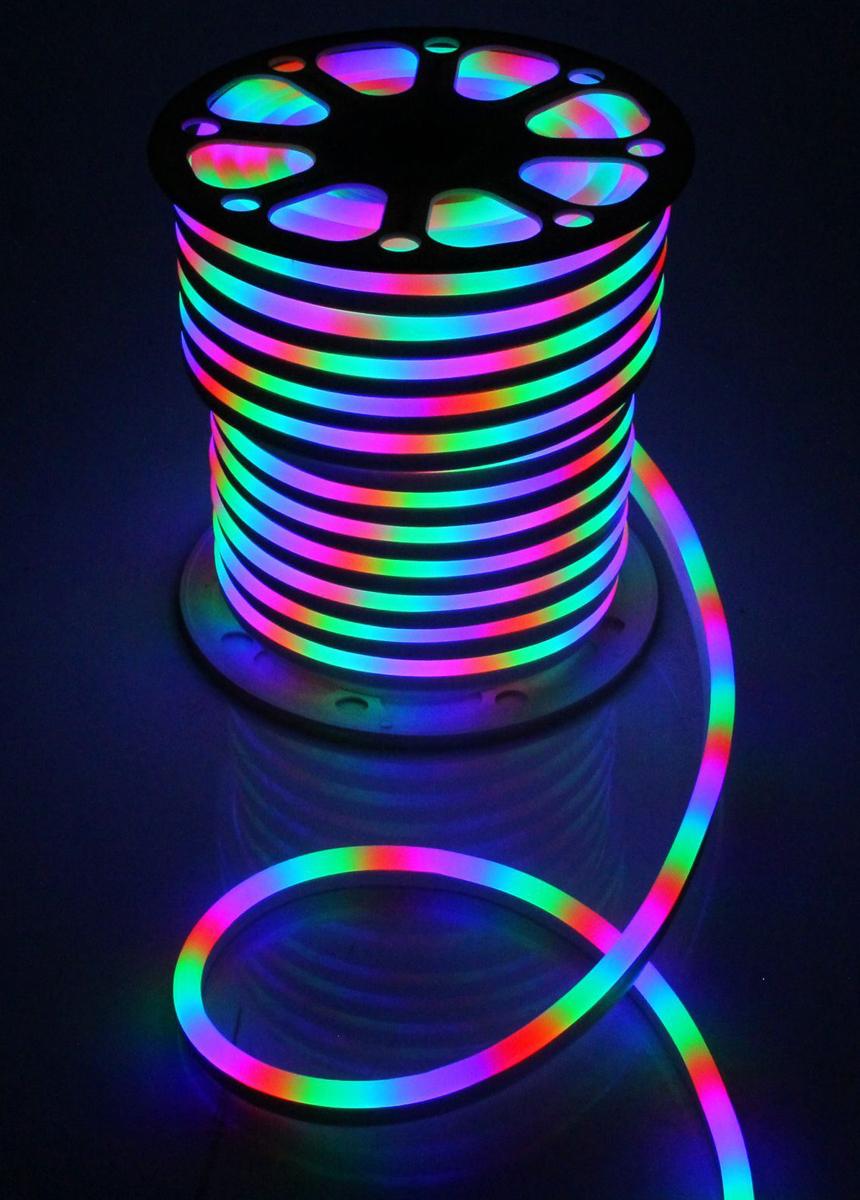 Гирлянда светодиодная  Luazon , 120 ламп, 220 V, цвет: мультиколор, 1,5 см х 2,5 см х 50 м. 1431325 -  Гирлянды и светильники