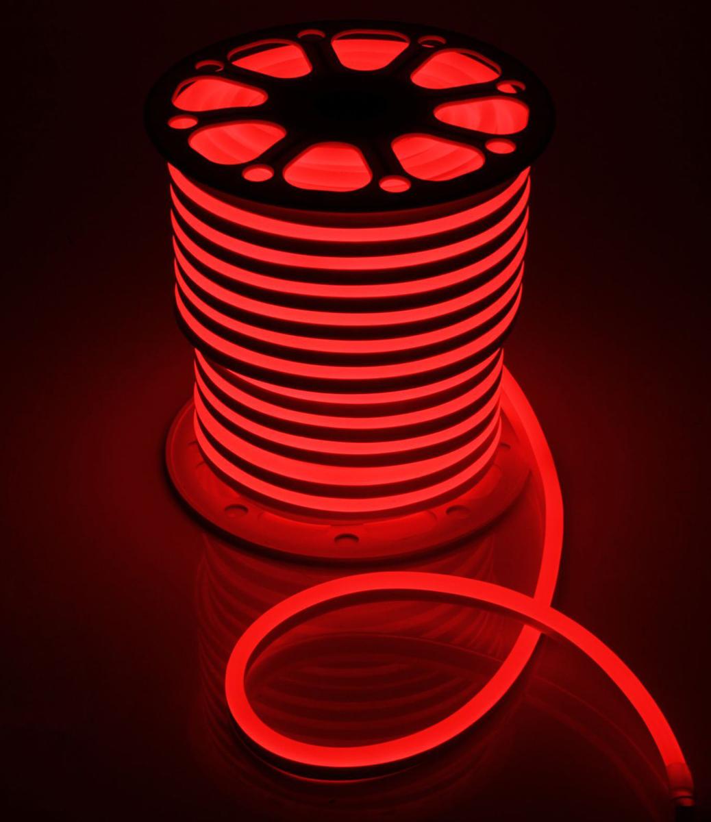 Гирлянда светодиодная  Luazon , 120 ламп, 220 V, цвет: красный, 1,5 см х 2,5 см х 50 м. 1431326 -  Гирлянды и светильники