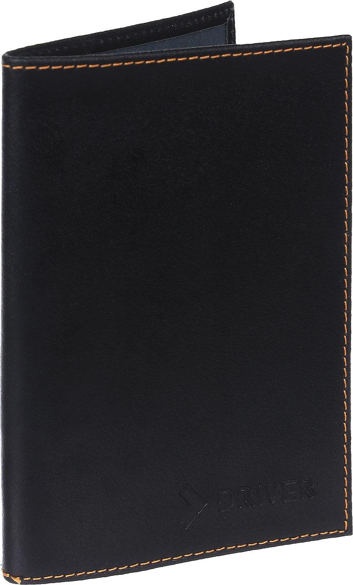 Обложка для паспорта Driver Italian Line, цвет: черный. ОП5ОП5Кожгалантерея Driver изготовлена из высококачественной натуральной кожи. Специальное защитное покрытие способствует долгой службе изделий. Вся продукция гипоаллергенна. Прозрачные растительные краски подчеркивают натуральную фактуру. Стильная обложка для автодокументов Driver станет отличным подарком для человека, ценящего качественные и практичные вещи.
