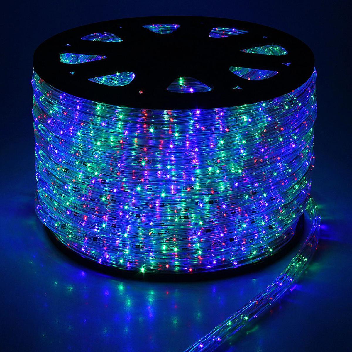 Гирлянда светодиодная Luazon, 2400 ламп, 220 V, цвет: мультиколор, 1,8 см х 100 м. 14890991080330Светодиодные гирлянды, ленты и т.д — это отличный вариант для новогоднего оформления интерьера или фасада. С их помощью помещение любого размера можно превратить в праздничный зал, а внешние элементы зданий, украшенные ими, мгновенно станут напоминать очертания сказочного дворца. Такие украшения создают ауру предвкушения чуда. Деревья, фасады, витрины, окна и арки будто специально созданы, чтобы вы украсили их светящимися нитями.