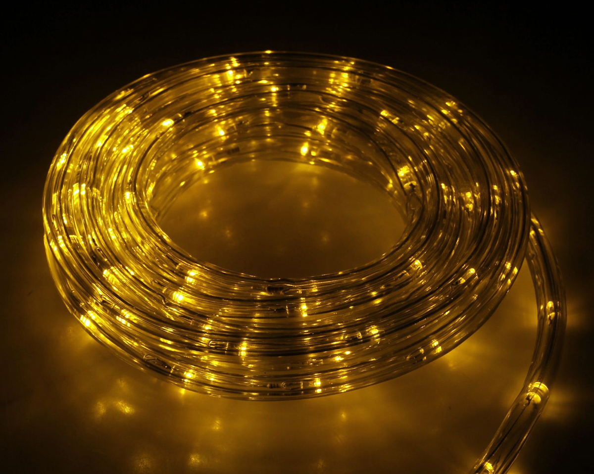 Гирлянда светодиодная Luazon, 120 ламп, 8 режимов, 220 V, цвет: желтый, 1 см х 5 м. 15898231589823Светодиодные гирлянды, ленты и т.д — это отличный вариант для новогоднего оформления интерьера или фасада. С их помощью помещение любого размера можно превратить в праздничный зал, а внешние элементы зданий, украшенные ими, мгновенно станут напоминать очертания сказочного дворца. Такие украшения создают ауру предвкушения чуда. Деревья, фасады, витрины, окна и арки будто специально созданы, чтобы вы украсили их светящимися нитями.