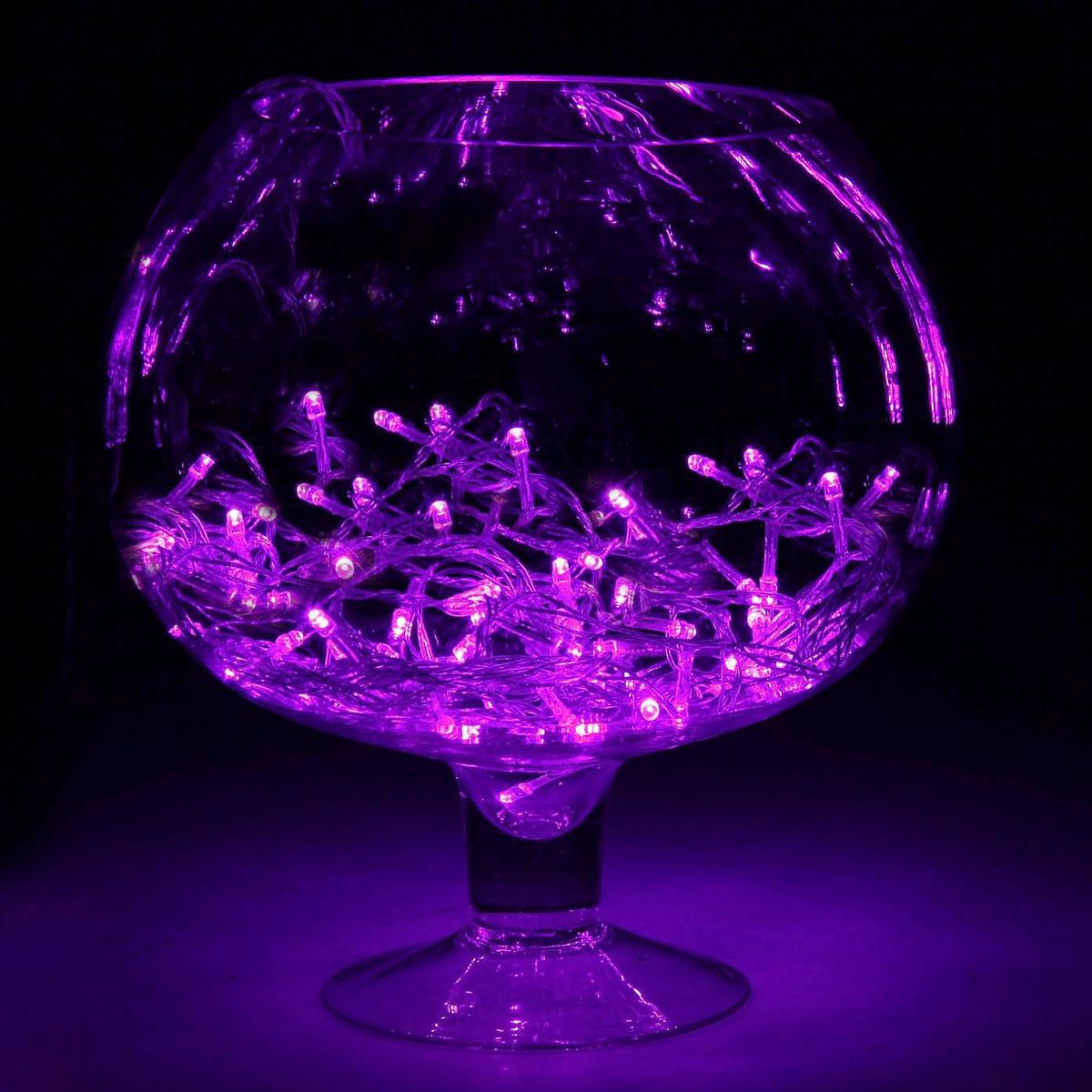 Гирлянда светодиодная Luazon Метраж, 8 режимов, 100 ламп, 220 V, 9 м, цвет: фиолетовый. 187162187162Светодиодные гирлянды, ленты и т.д. — это отличный вариант для новогоднего оформления интерьера или фасада. С их помощью помещение любого размера можно превратить в праздничный зал, а внешние элементы зданий, украшенные ими, мгновенно станут напоминать очертания сказочного дворца. Такие украшения создают ауру предвкушения чуда. Деревья, фасады, витрины, окна и арки будто специально созданы, чтобы вы украсили их светящимися нитями.