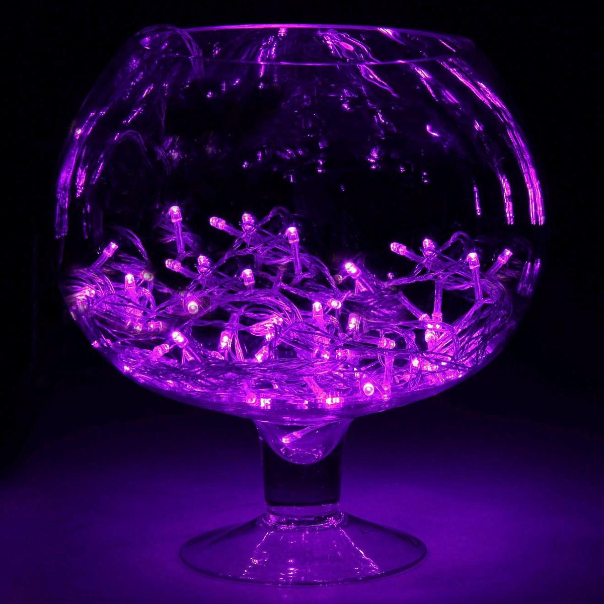 Гирлянда светодиодная Luazon Метраж, цвет: фиолетовый, 200 ламп, 8 режимов, 220 V, длина 20 м. 187167 гирлянда luazon дождь 2m 6m multicolor 671678