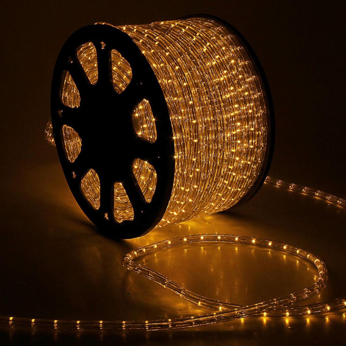 Гирлянда светодиодная  Luazon , 2400 ламп, 220 V, цвет: теплый белый, 1,3 см х 100 м. 461028 -  Гирлянды и светильники