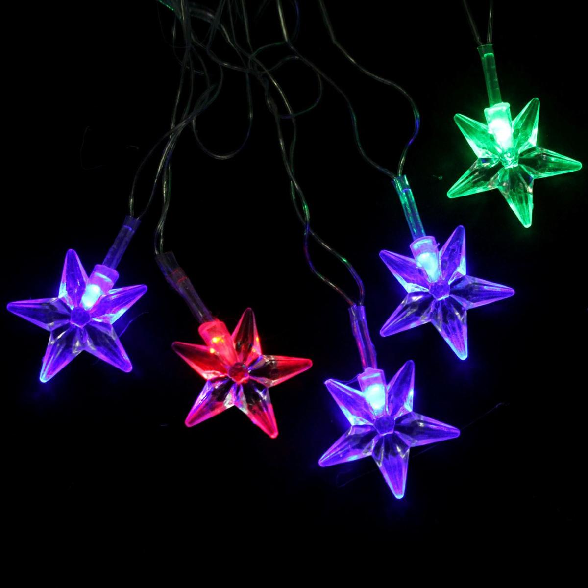 Гирлянда светодиодная Luazon Метраж. Звезда средняя, 20 ламп, 220 V, длина 5 м541535Светодиодные гирлянды и ленты — это отличный вариант для новогоднего оформления интерьера или фасада. С их помощью помещение любого размера можно превратить в праздничный зал, а внешние элементы зданий, украшенные ими, мгновенно станут напоминать очертания сказочного дворца. Такие украшения создают ауру предвкушения чуда. Деревья, фасады, витрины, окна и арки будто специально созданы, чтобы вы украсили их светящимися нитями.