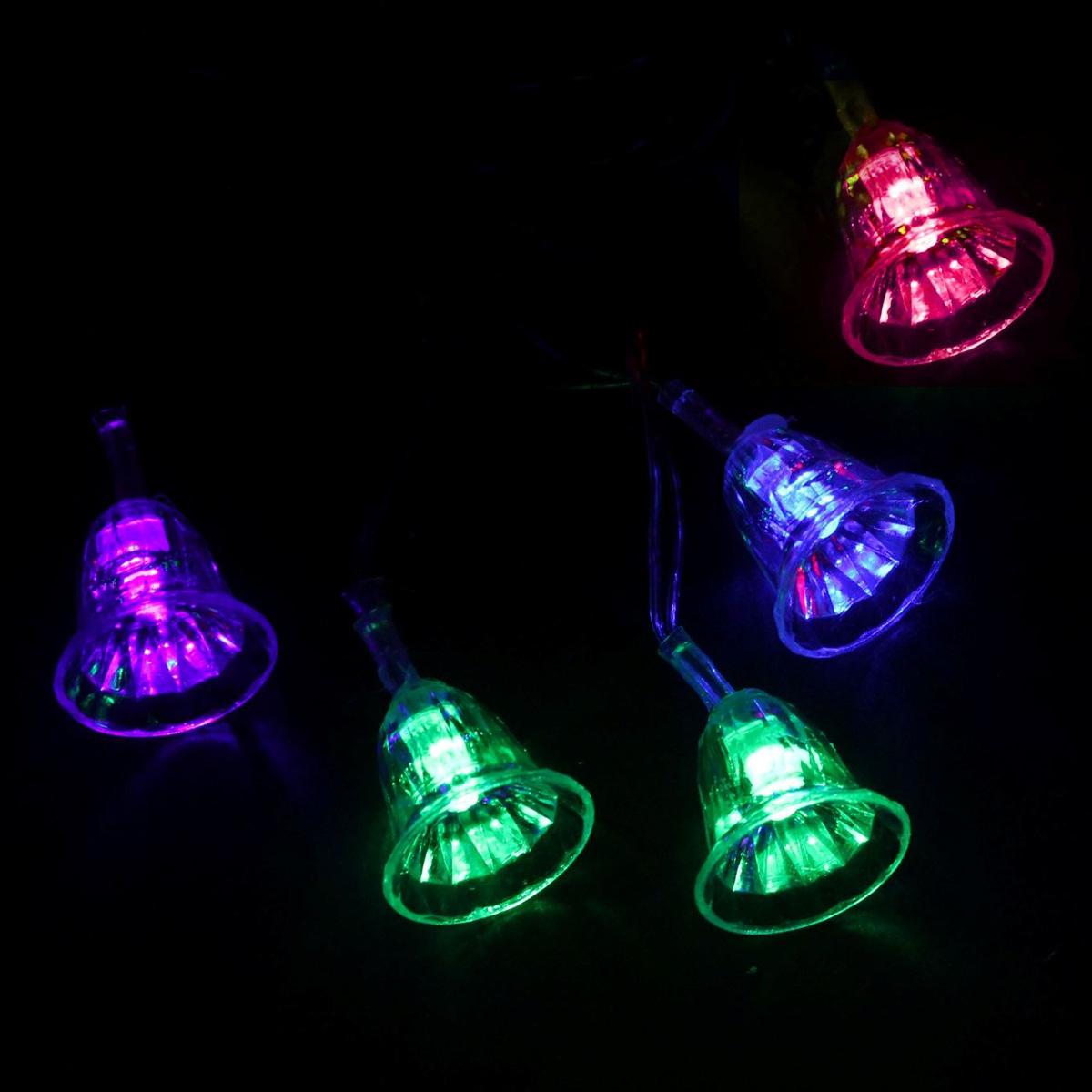Гирлянда светодиодная Luazon Метраж. Колокольчики, 20 ламп, 220 V, длина 5 м541537Светодиодные гирлянды и ленты — это отличный вариант для новогоднего оформления интерьера или фасада. С их помощью помещение любого размера можно превратить в праздничный зал, а внешние элементы зданий, украшенные ими, мгновенно станут напоминать очертания сказочного дворца. Такие украшения создают ауру предвкушения чуда. Деревья, фасады, витрины, окна и арки будто специально созданы, чтобы вы украсили их светящимися нитями.