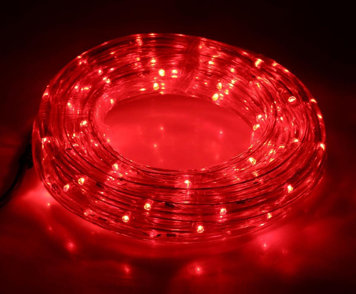 Гирлянда светодиодная Sima-land, 120 ламп, 8 режимов, 220 V, цвет: красный, 1,3 см х 5 м. 677991A5218PL-5BRСветодиодные гирлянды, ленты и т.д — это отличный вариант для новогоднего оформления интерьера или фасада. С их помощью помещение любого размера можно превратить в праздничный зал, а внешние элементы зданий, украшенные ими, мгновенно станут напоминать очертания сказочного дворца. Такие украшения создают ауру предвкушения чуда. Деревья, фасады, витрины, окна и арки будто специально созданы, чтобы вы украсили их светящимися нитями.