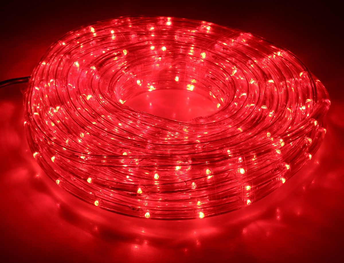 Гирлянда светодиодная  Luazon , 440 ламп, 8 режимов, 220 V, цвет: красный, 1,3 см х 20 м. 678001 -  Гирлянды и светильники