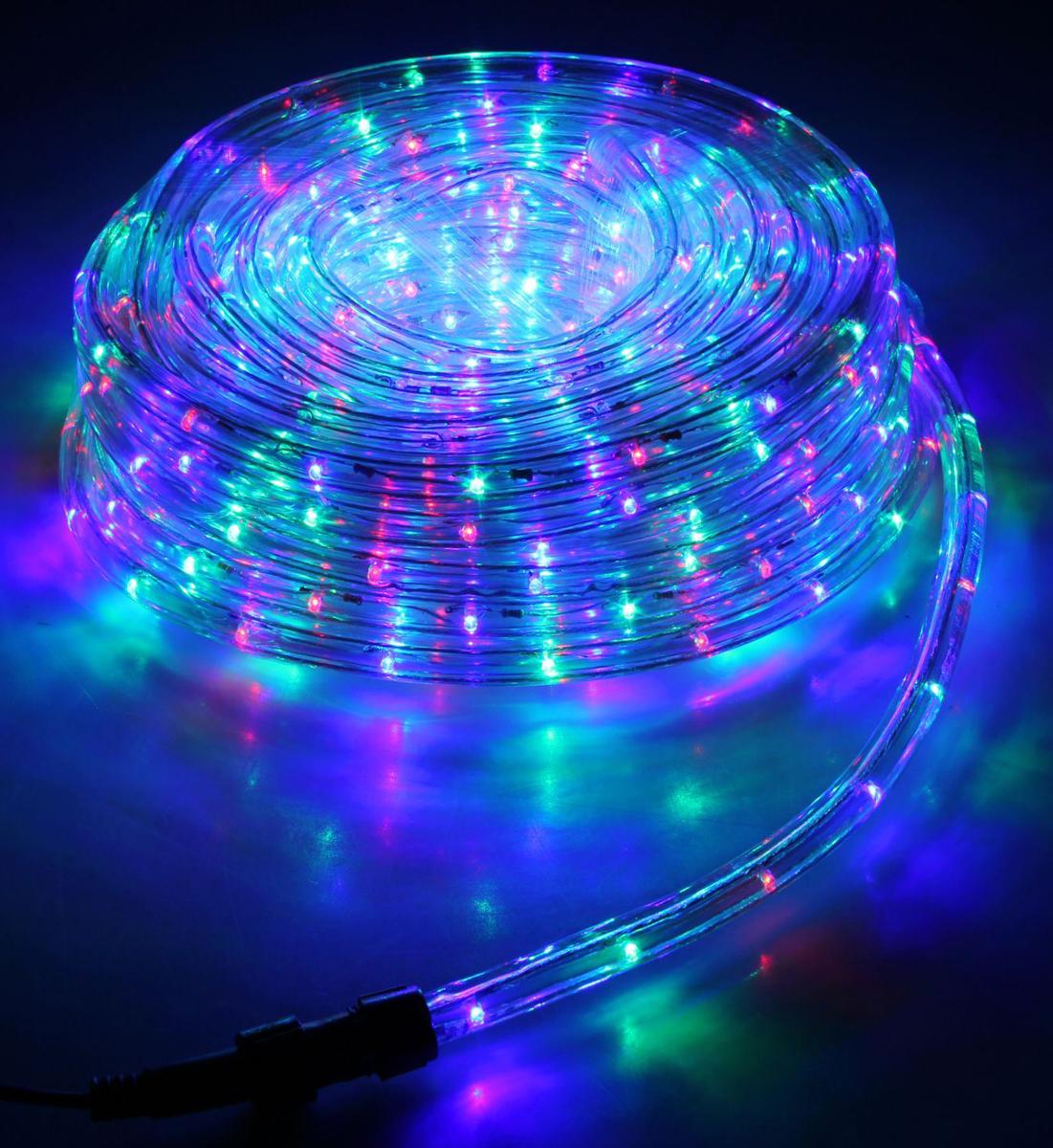 Гирлянда светодиодная Luazon, 440 ламп, 8 режимов, 220 V, цвет: мультиколор, 1,3 см х 20 м. 678003678003Светодиодные гирлянды, ленты и т.д — это отличный вариант для новогоднего оформления интерьера или фасада. С их помощью помещение любого размера можно превратить в праздничный зал, а внешние элементы зданий, украшенные ими, мгновенно станут напоминать очертания сказочного дворца. Такие украшения создают ауру предвкушения чуда. Деревья, фасады, витрины, окна и арки будто специально созданы, чтобы вы украсили их светящимися нитями.