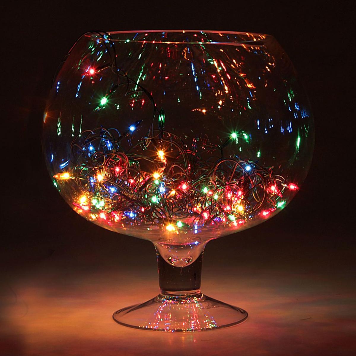 Гирлянда светодиодная Luazon Метраж. Свечка, цвет: мультиколор, 20 ламп, 220 V, длина 1,2 м. 678029 гирлянда luazon метраж свечка 5m led 20 220v multicolor 2388694