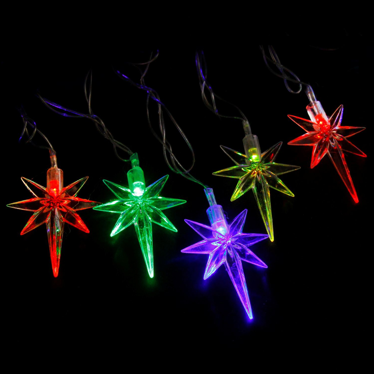 Гирлянда светодиодная Luazon Метраж. Звезда, 20 ламп, 220 V, длина 5 м703338Светодиодные гирлянды и ленты — это отличный вариант для новогоднего оформления интерьера или фасада. С их помощью помещение любого размера можно превратить в праздничный зал, а внешние элементы зданий, украшенные ими, мгновенно станут напоминать очертания сказочного дворца. Такие украшения создают ауру предвкушения чуда. Деревья, фасады, витрины, окна и арки будто специально созданы, чтобы вы украсили их светящимися нитями.