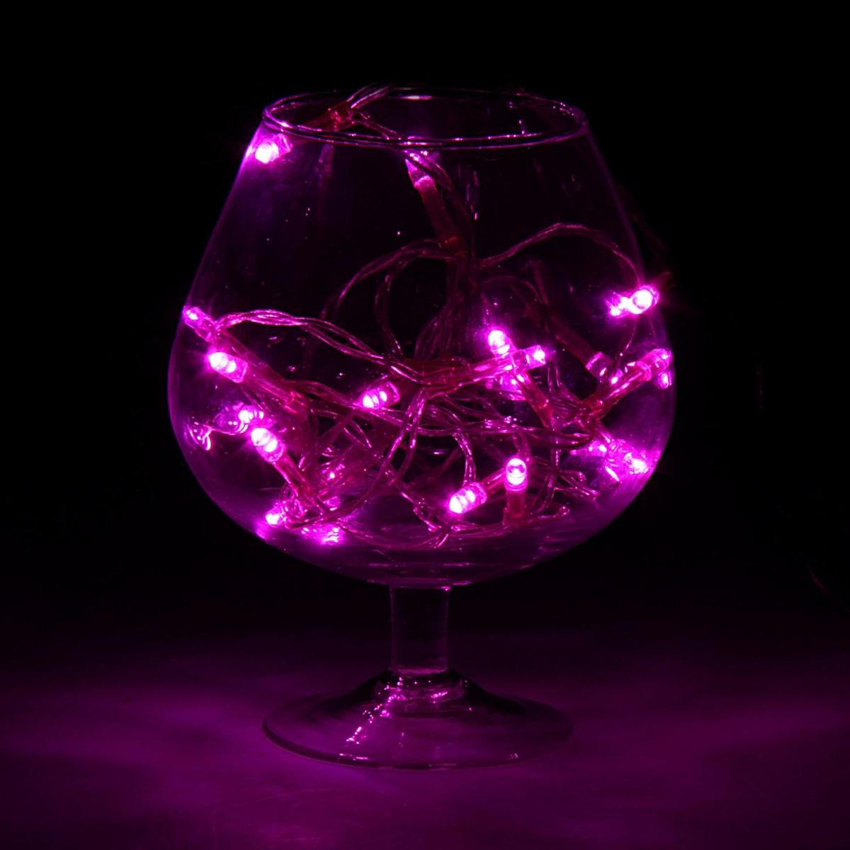 Гирлянда светодиодная Luazon Метраж, цвет: фиолетовый, 20 ламп, 2 режима, 3,6 V, длина 2 м. 806820806820Светодиодные гирлянды и ленты — это отличный вариант для новогоднего оформления интерьера или фасада. С их помощью помещение любого размера можно превратить в праздничный зал, а внешние элементы зданий, украшенные ими, мгновенно станут напоминать очертания сказочного дворца. Такие украшения создают ауру предвкушения чуда. Деревья, фасады, витрины, окна и арки будто специально созданы, чтобы вы украсили их светящимися нитями.