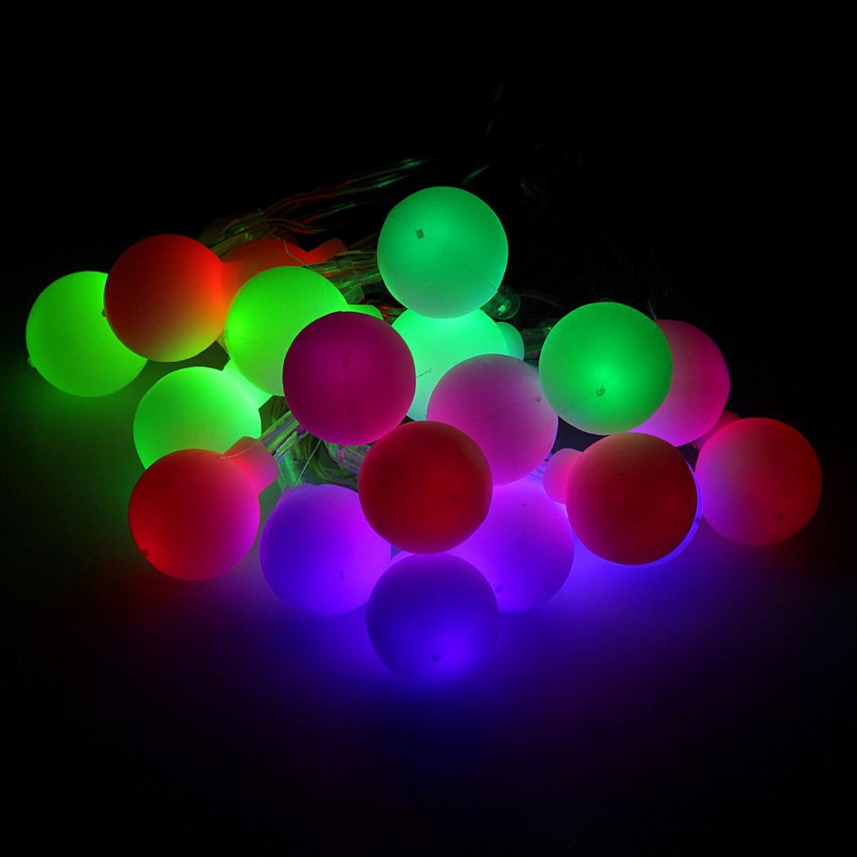 Гирлянда светодиодная Luazon Метраж. Шарики, 20 ламп, 3,6 V, длина 3 м806824Светодиодные гирлянды и ленты — это отличный вариант для новогоднего оформления интерьера или фасада. С их помощью помещение любого размера можно превратить в праздничный зал, а внешние элементы зданий, украшенные ими, мгновенно станут напоминать очертания сказочного дворца. Такие украшения создают ауру предвкушения чуда. Деревья, фасады, витрины, окна и арки будто специально созданы, чтобы вы украсили их светящимися нитями.