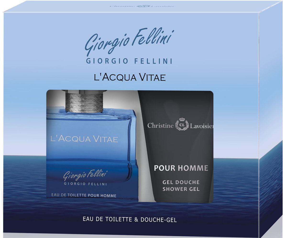 Cristine Lavoisier Парфюмированный набор: Giorgio Fellini L'Acqua Vitae Туалетная вода, 100 мл + Гель для душа, 120 мл