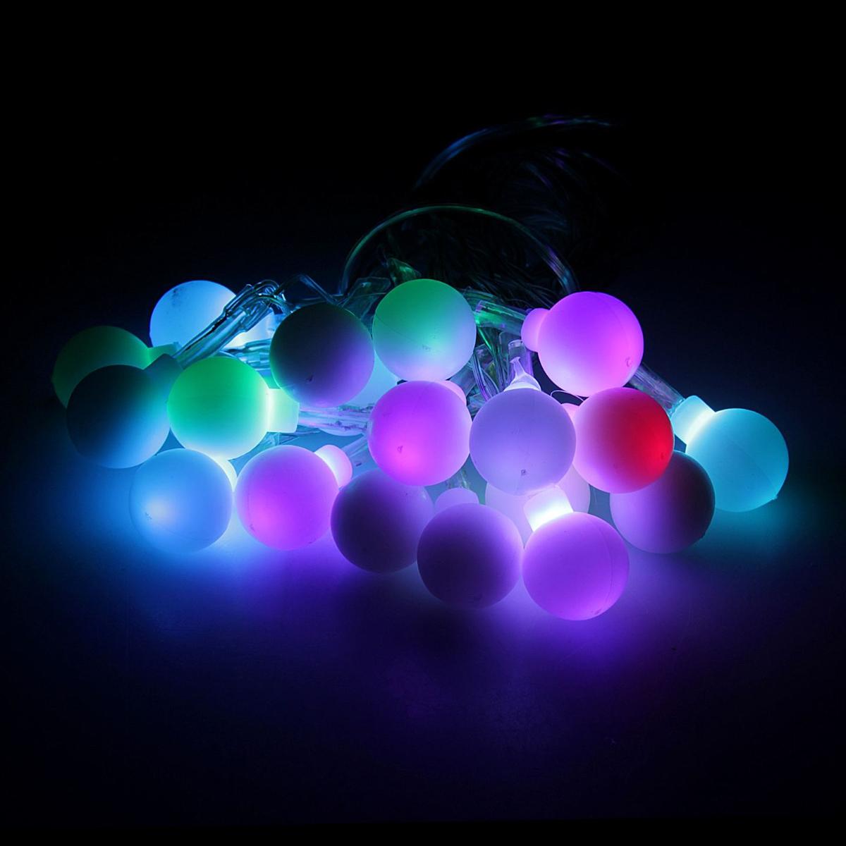 Гирлянда светодиодная Luazon Метраж. Шарики, 20 ламп, 5 V, длина 3 м806831Светодиодные гирлянды и ленты — это отличный вариант для новогоднего оформления интерьера или фасада. С их помощью помещение любого размера можно превратить в праздничный зал, а внешние элементы зданий, украшенные ими, мгновенно станут напоминать очертания сказочного дворца. Такие украшения создают ауру предвкушения чуда. Деревья, фасады, витрины, окна и арки будто специально созданы, чтобы вы украсили их светящимися нитями.