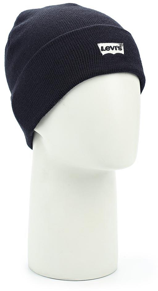 Шапка Levis®, цвет: темно-синий. 7713810270. Размер универсальный7713810270Комфортная шапка Levis из плотно прилегающего мягкого трикотажа с фирменным логотипом.