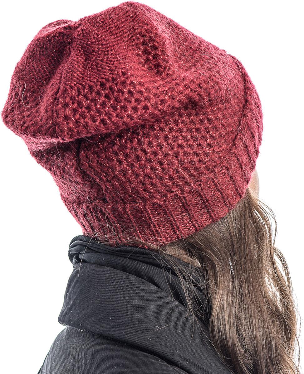 Шапка вязаная женская Stilla, цвет:  красный.  SH-1765/10.  Размер 52/58 Stilla