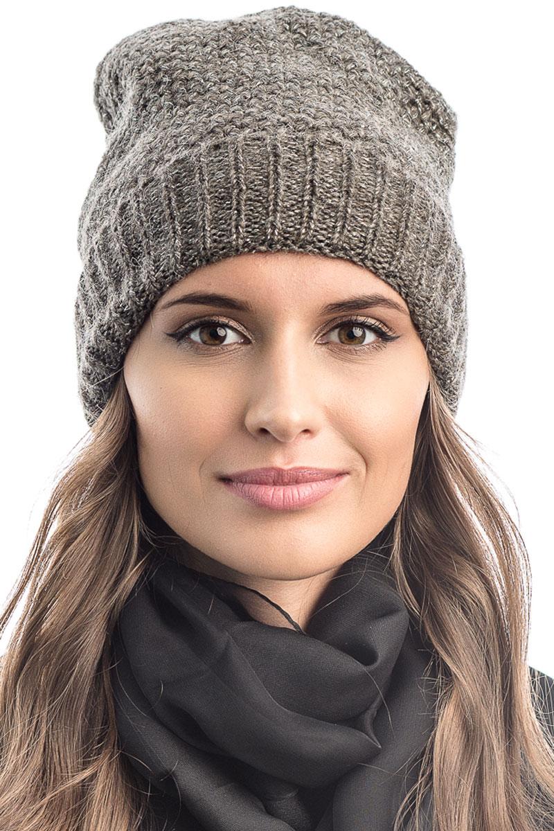 Шапка вязаная женская Stilla, цвет: светло-коричневый. SH-1765/09. Размер 52/58SH-1765/09Элегантная вязаная женская шапка Stilla, изготовленная из пряжи с содержанием шерсти и акрила исключительно мягкая, комфортная и теплая. Одинарная вязка, декорированная ниткой люрекса, делает эту модель эффектной и не забываемой. Практичная форма шапки делает ее очень комфортной. Очень мягкая пряжа создает ощущение теплого пуха.Шапка Stilla прекрасно дополнит ваш образ с шубой или пальто.