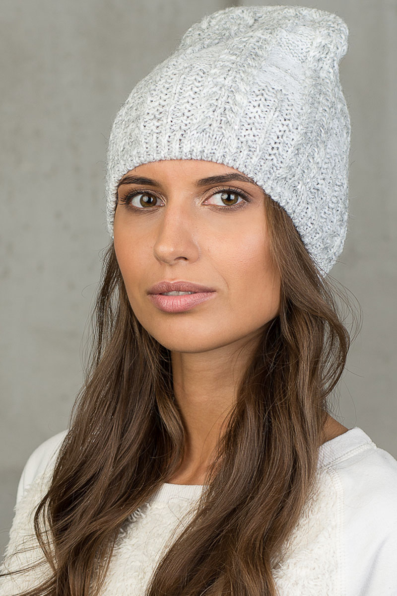 Шапка вязаная женская Stilla, цвет: светло-серый. SH-5301/7. Размер 52/58 шапки mialt шапка