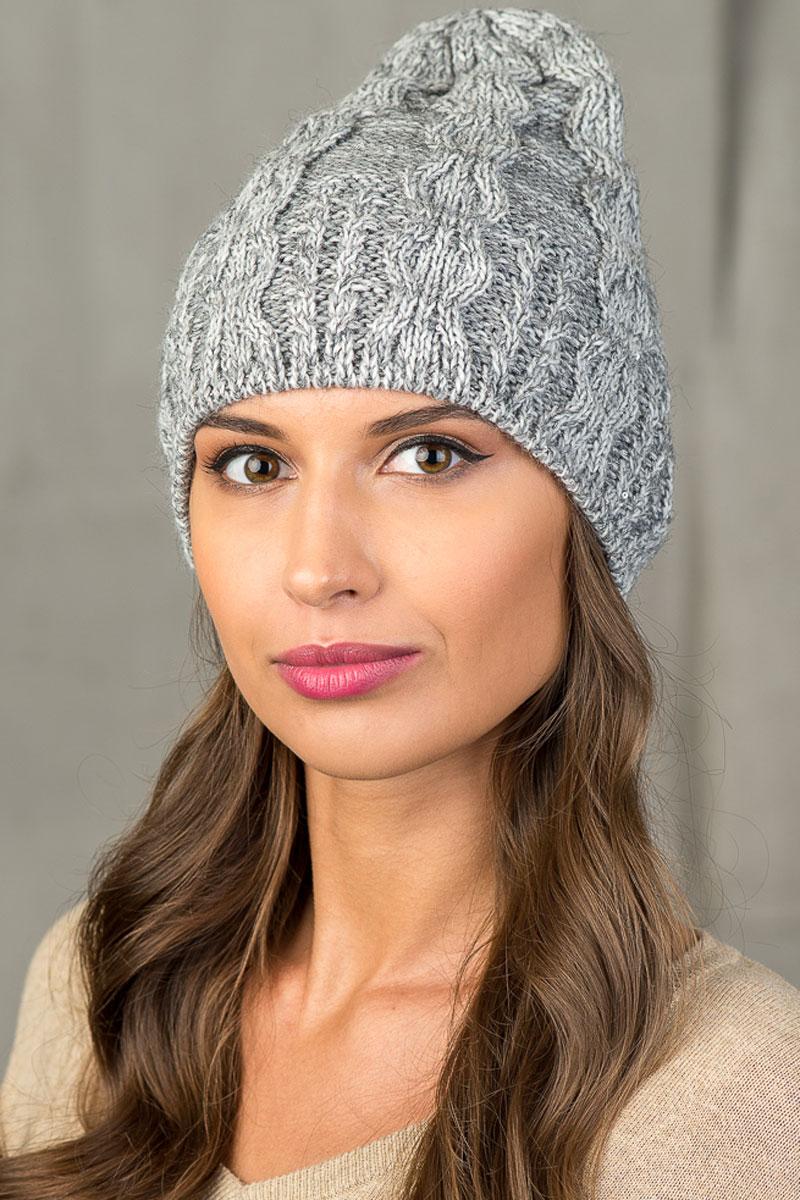 Шапка вязаная женская Stilla, цвет: серый. SH-5469/6. Размер 52/58 шапки mialt шапка