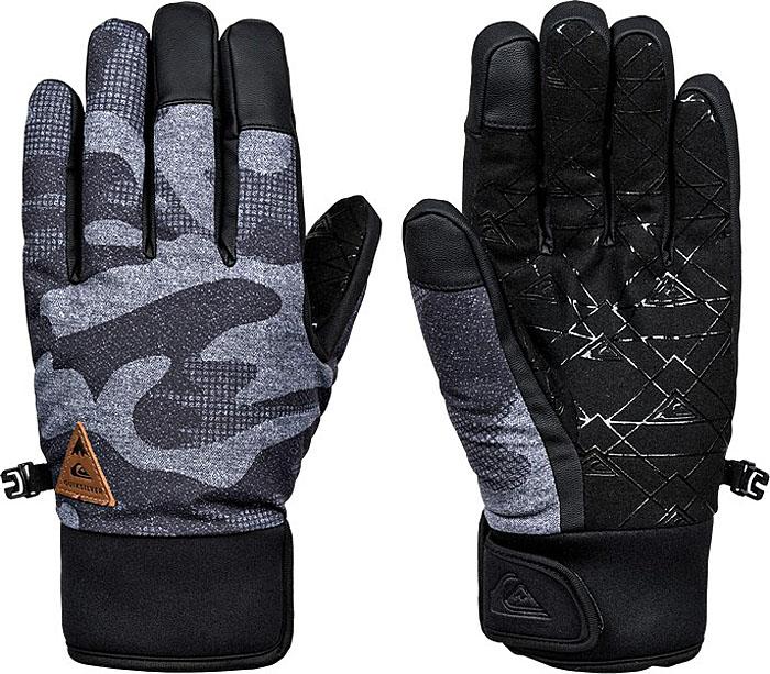 Перчатки мужские Quiksilver, цвет: антрацитовый, серый, светло-серый. EQYHN03082-KVJ9. Размер M (8)EQYHN03082-KVJ9