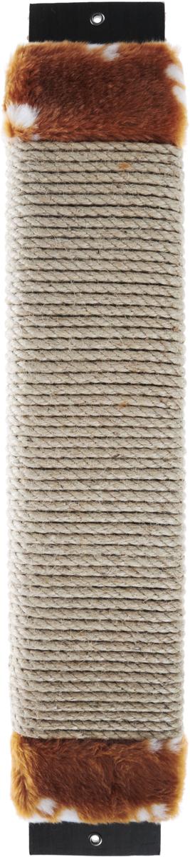 Когтеточка Adel-Pet Большая, с пропиткой, веревочная, цвет: бежевый, коричневый, длина 60,5 см990038Когтеточка Adel-Pet Большая поможет сохранить мебель и ковры в доме от когтей вашего любимца, стремящегося удовлетворить свою естественную потребность точить когти. Когтеточка изготовлена из ДСП, синтетики и сизаля. На когтеточке имеются 2 отверстия для крепления к стене. Товар продуман в мельчайших деталях и, несомненно, понравится вашей кошке. Всем кошкам необходимо стачивать когти. Когтеточка - один из самых необходимых аксессуаров для кошки. Для легкого приучения питомца изделие обработано привлекающей пропиткой.