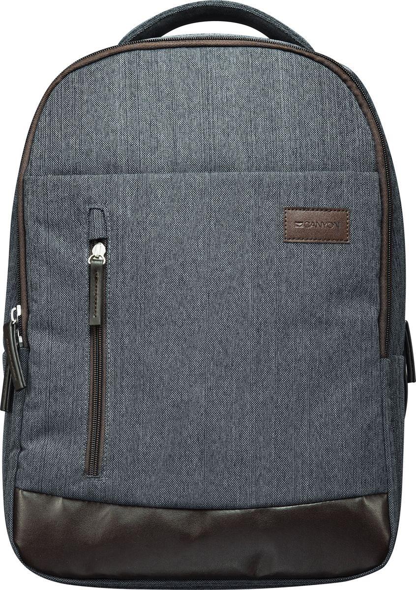 Canyon CNE-CBP5DG6, Gray рюкзак для ноутбука 15,6Canyon CNE-CBP5DG6 рюкзак для ноутбука 15,6Рюкзак Canyon CNE-CBP5DG6 станет незаменимым аксессуаром для людей, чья жизнь проходит в постоянном движении. Обладая регулируемыми по длине плечевыми ремнями, обеспечивающими комфорт при переноске, он отлично подойдет для средних ноутбуков с диагональю до 15.6 дюймов. Кроме того, данная модель оснащена органайзером, предназначенным для компактного хранения мелких предметов, передними карманами на молнии, а также внутренним прижимным ремнем для фиксации компьютера.