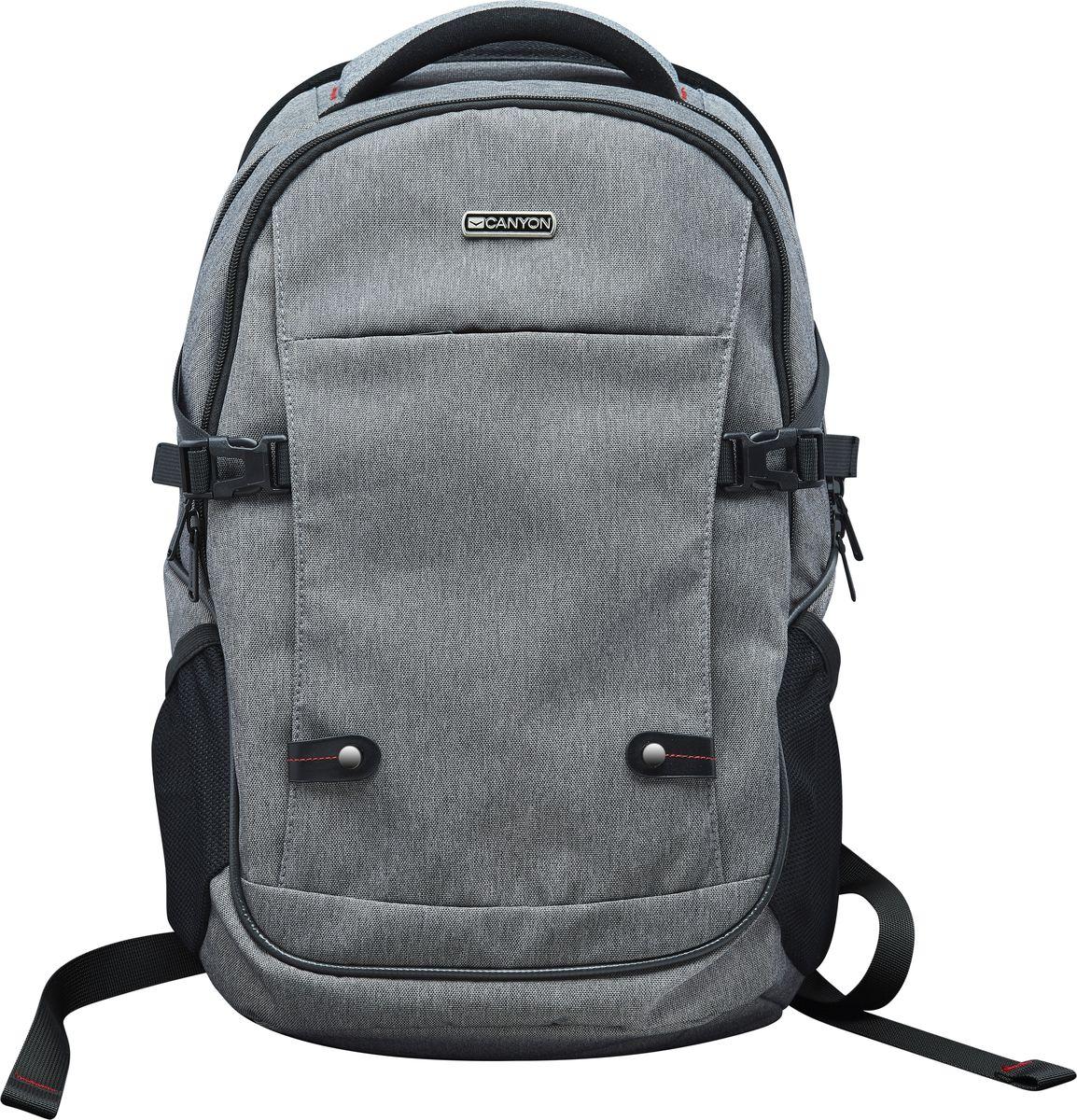 Canyon CNE-CBP5G8, Gray рюкзак для ноутбука 15,6Canyon CNE-CBP5G8 рюкзак для ноутбука 15,6Рюкзак Canyon CNE-CBP5G8 серого цвета станет незаменимым аксессуаром для людей, чья жизнь проходит впостоянном движении. Обладая регулируемыми по длине плечевыми ремнями, обеспечивающими комфорт припереноске, он отлично подойдет для средних ноутбуков с диагональю до 15.6 дюймов. Кроме того, данная модельоснащена эргономичной спинкой с мягкими вставками, передним карманом на молнии, а также внутреннимприжимным ремнем для фиксации компьютера.