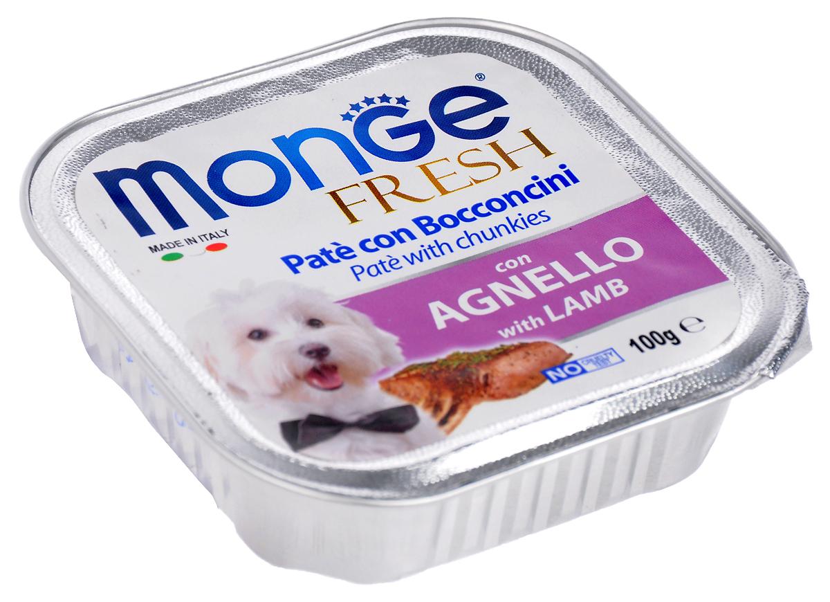 Консервы для собак Monge Fresh, с ягненком, 100 г