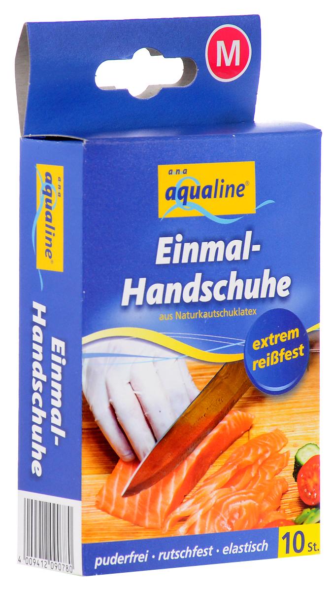 Набор одноразовых перчаток Aqualine, размер: М, 10 шт9078Одноразовые перчатки Aqualine предназначены для любых работ по дому, а также в саду, парикмахерской и больнице. Они сохраняют высокую чувствительность рук, хорошо растягиваются и в то же время высокопрочные на разрыв. Небольшое количество протеина обеспечивает защиту чувствительной кожи от аллергии. Каждая перчатка подходит на обе руки. Характеристики:Состав: натуральная резина, наполнитель, средства для вулканизации, стабилизаторы, диоксид титана. Размер:М (средний). Комплектация:10 шт. Размер упаковки: 14,5 см х 3 см х 8 см. Производитель:Германия. Артикул:9078.Уважаемые клиенты! Обращаем ваше внимание на то, что упаковка может иметь несколько видов дизайна. Поставка осуществляется в зависимости от наличия на складе.