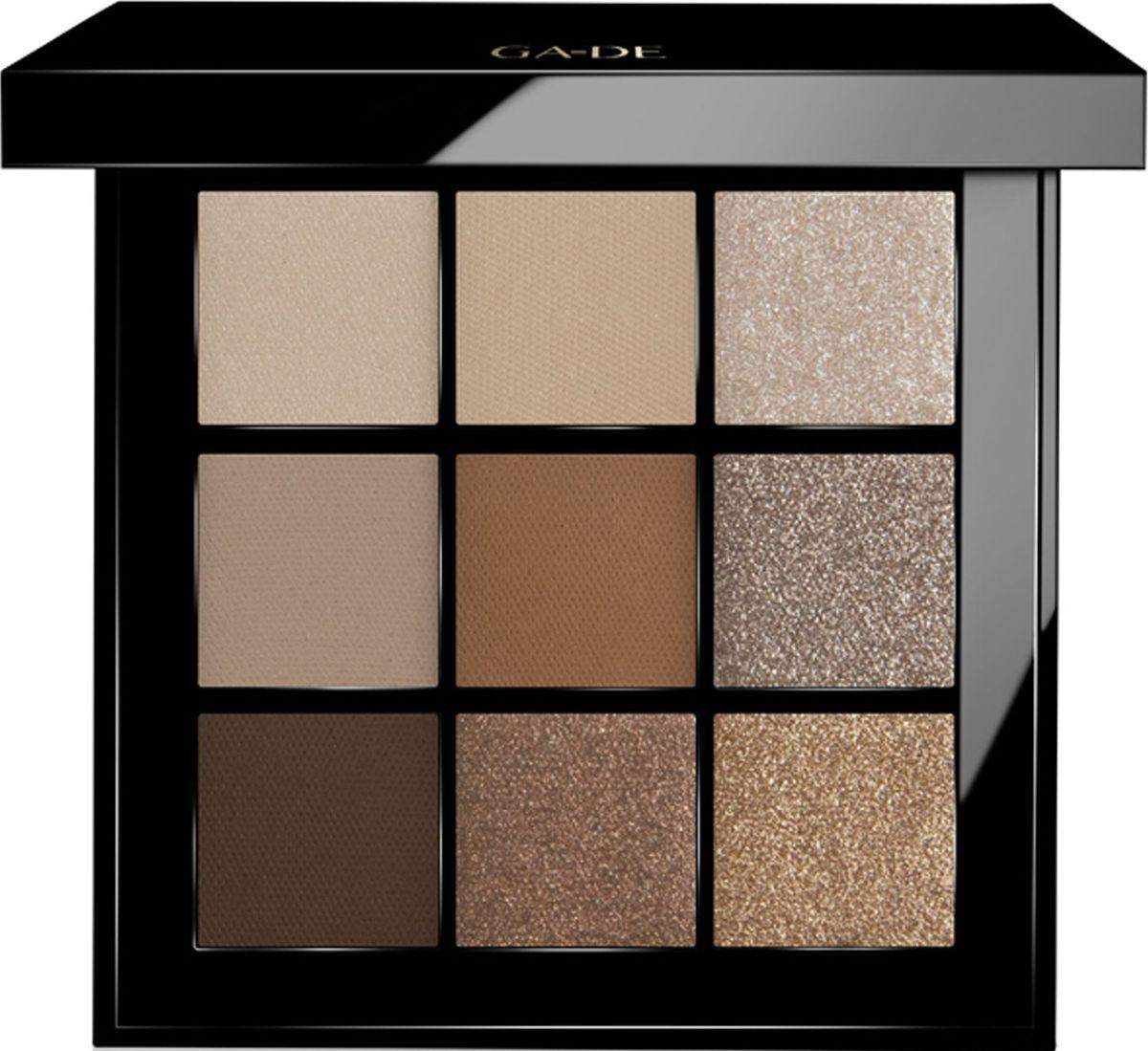 GA-DE Набор теней для век Velveteen, тон №47 Nude in the City, 8,1 г118800047GA-DE Velveteen Eyeshadow Palette – это сочетание 9 великолепных, экспертно подобранных оттенков для завораживающего макияжа глаз. Микродиспенсорная текстура теней позволяет выполнить макияж в различных вариациях : от мягкого, ежедневного Nude до глубокого, драматического Smoky или ультрамодного макияжа Metallic.Стильный, лаковый корпус с магнитным замочком, невероятно удобный формат для путешествий и ношения с собой. Velveteen Eyeshadow – ваш стильный выбор на каждый день!