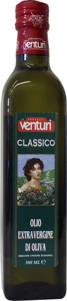 Venturi оливковое масло экстра верджин классико, 500 мл470Оливковое масло первого холодного отжима. Вкус гармоничный, сбалансированный. Отлично подходит для салатов, приправ, соусов.