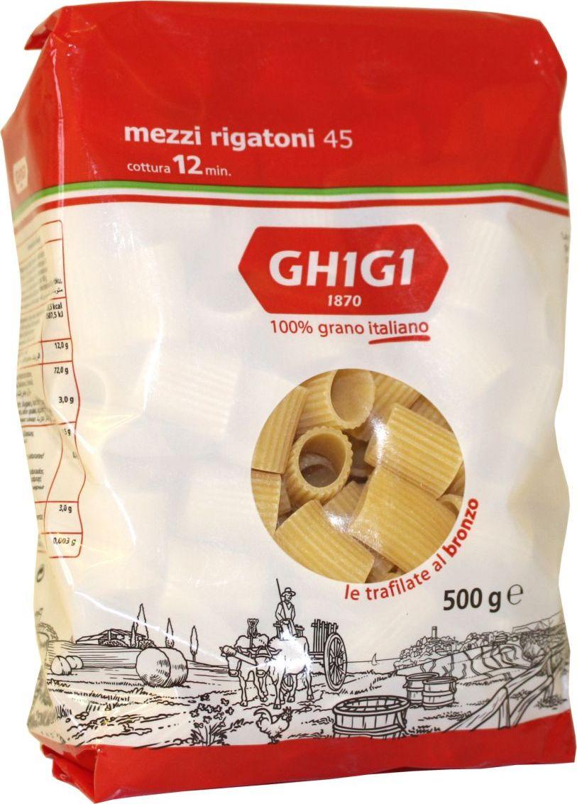 Ghigi медзи ригатони № 45, 500 г молочная смесь valio baby 1 с рождения 350 г