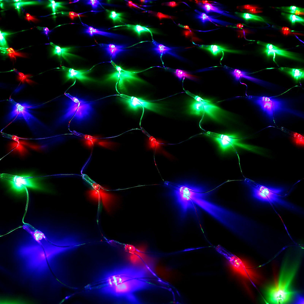 Гирлянда Luazon Сетка, длина 1,1 м, LED 144 ламп, 220V, цвет: мультиколор315-421Светодиодные гирлянды, ленты и т.д — это отличный вариант для новогоднего оформления интерьера или фасада. С их помощью помещение любого размера можно превратить в праздничный зал, а внешние элементы зданий, украшенные ими, мгновенно станут напоминать очертания сказочного дворца. Такие украшения создают ауру предвкушения чуда. Деревья, фасады, витрины, окна и арки будто специально созданы, чтобы вы украсили их светящимися нитями.