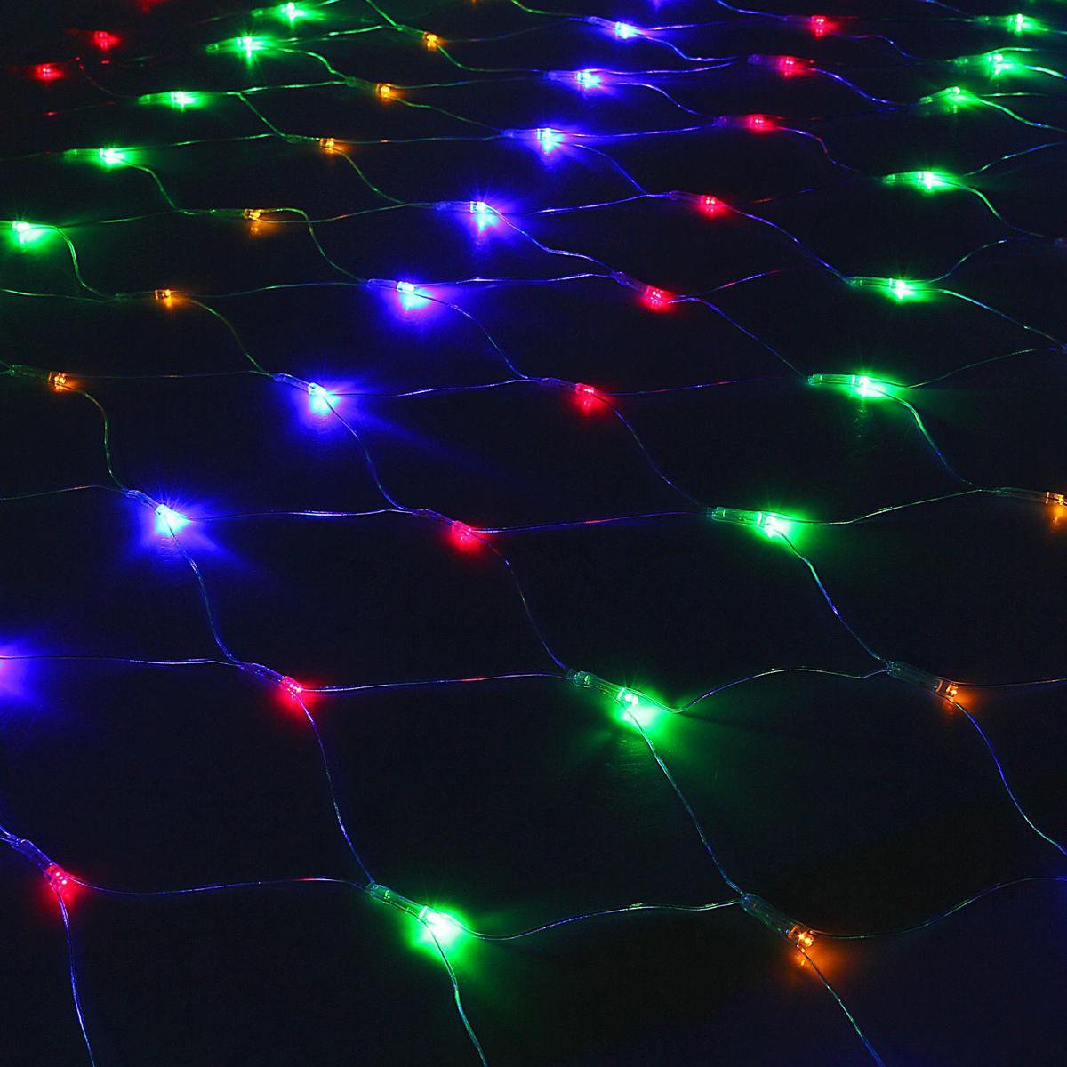 Гирлянда Luazon Сетка, длина 1,5 м, LED 240 ламп, 220V, цвет: мультиколор. 10804961080496Светодиодные гирлянды, ленты и т.д — это отличный вариант для новогоднего оформления интерьера или фасада. С их помощью помещение любого размера можно превратить в праздничный зал, а внешние элементы зданий, украшенные ими, мгновенно станут напоминать очертания сказочного дворца. Такие украшения создают ауру предвкушения чуда. Деревья, фасады, витрины, окна и арки будто специально созданы, чтобы вы украсили их светящимися нитями.